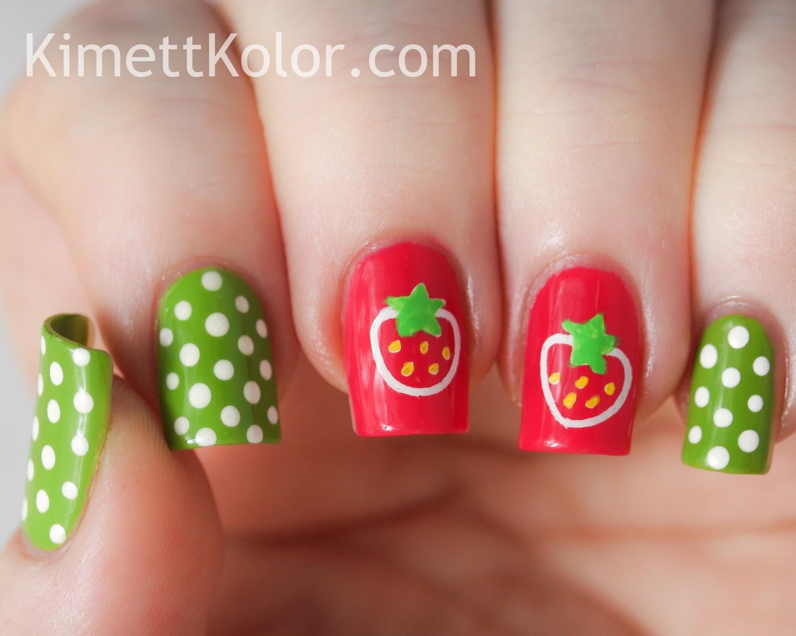 Super Simple Summer Strawberry Stamping Kimett Kolor