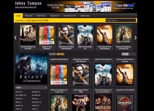 Johny Tampan Free Movie Blogger Template ~ Glory Template