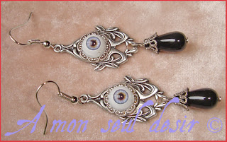 boucles d'oreilles oeil yeux gothique zombie day of the dead anatomie bizarre gothic gothik goth eye jewel anatomy earrings