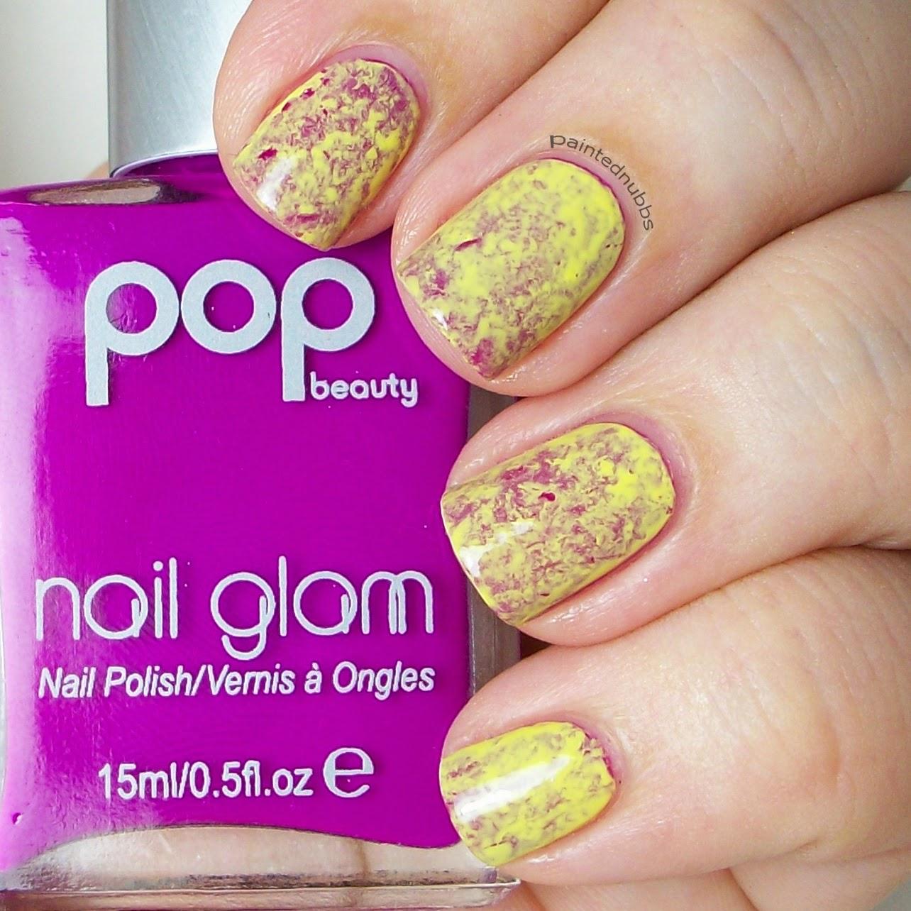 Painted Nubbs: Twinkie Nail Art Challenge September Week 2: Saran ...