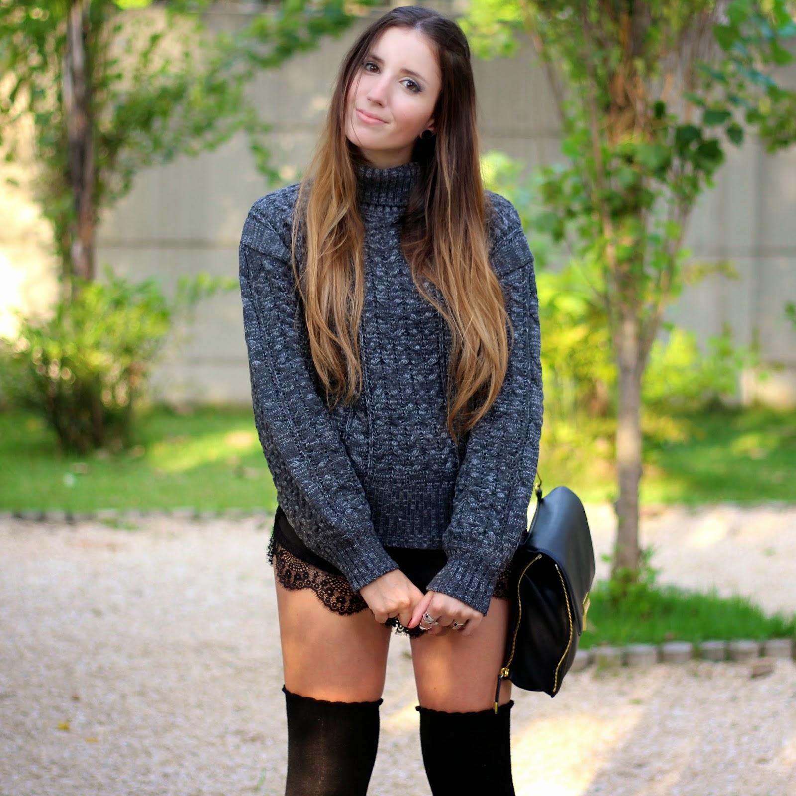 sweater gola alta