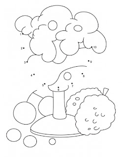 connect the dots 1 10 kids coloring pages