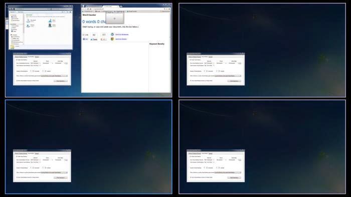 برنامج مجاني لتسهيل العمل علي الكمبيوتر وفتح نوافذ مختلفة بمهام متعددة BetterDesktopTool 1.8