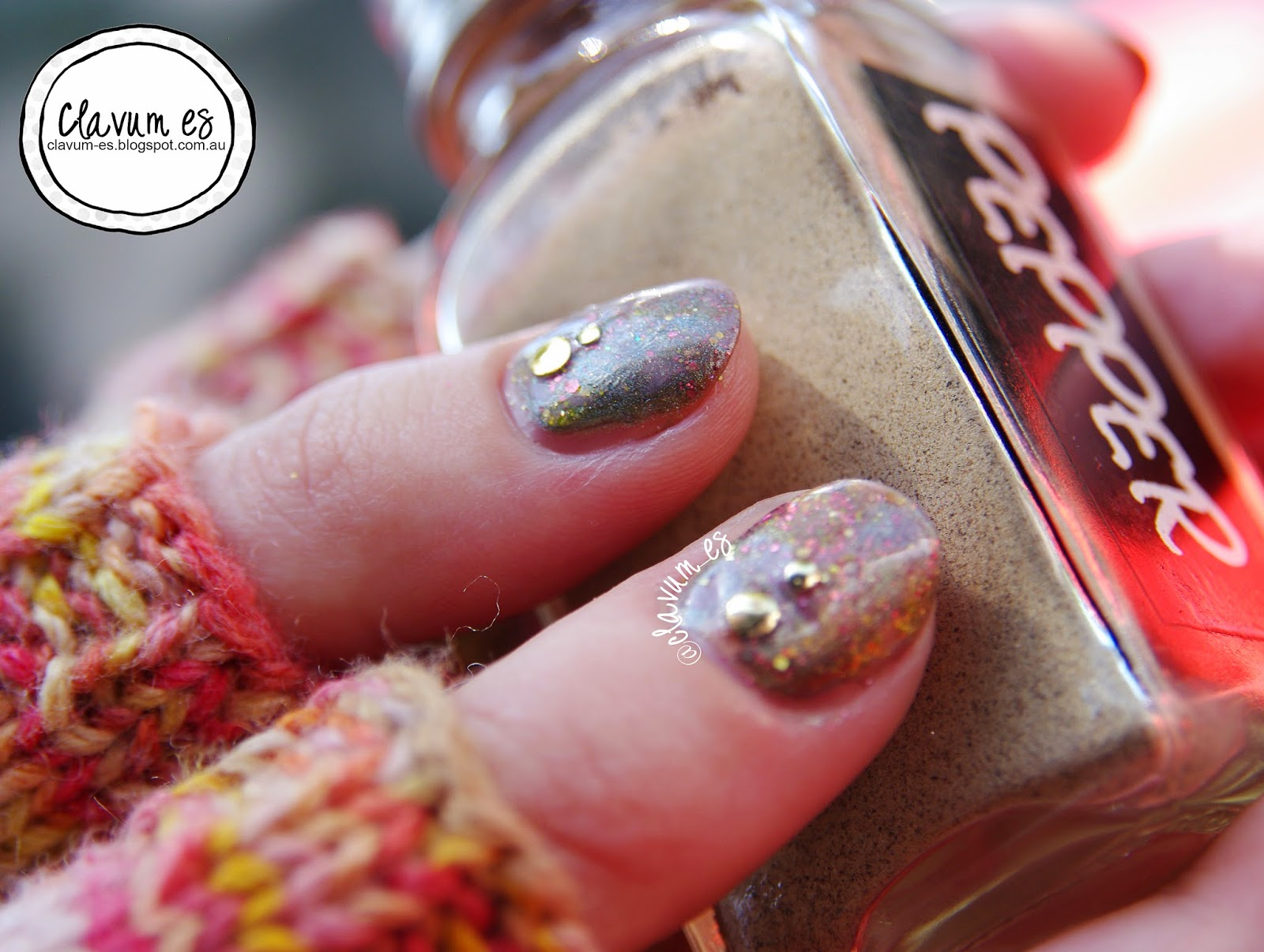 Knitted Inspiration nail art