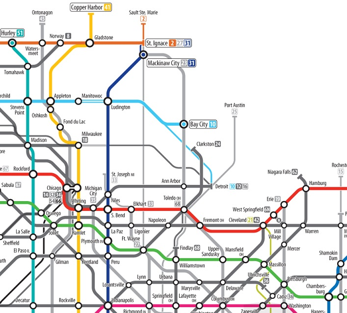 Map Of The Week Some Excellent Subway Inspired Maps - Pretty us map