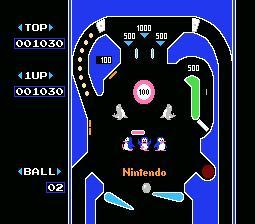 Pinball Nes Classic 8-Bit Pin Ball Gameplay Nintendo Polystation Dynavision