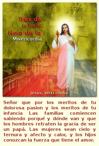 jesus con la hora de la misericordia