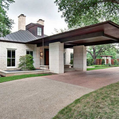 Powell brower at home do you porte cochere for Cottage house plans with porte cochere