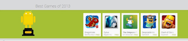 Best Android Game Of 2013 listed in Google Play Store