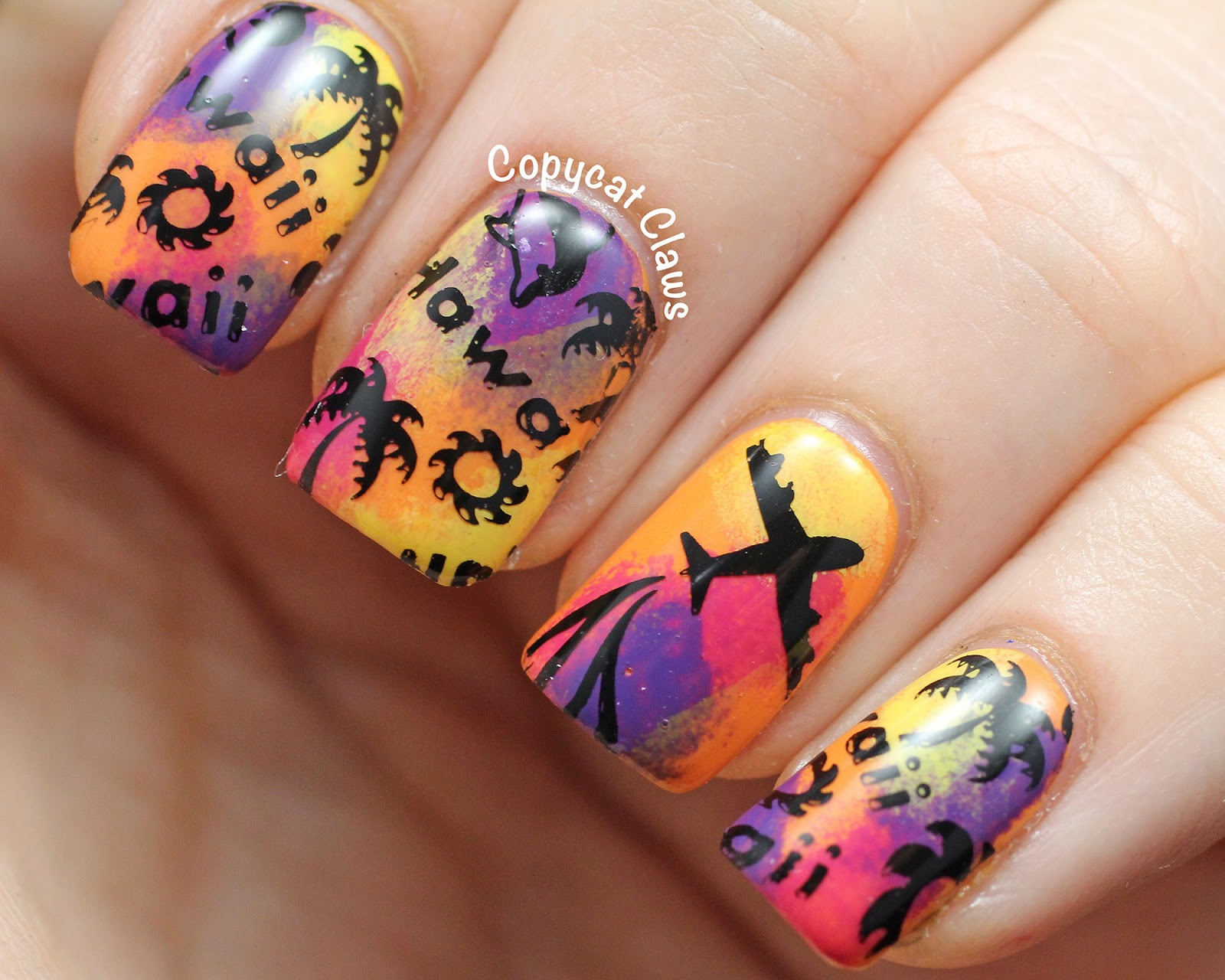 Hawaii nail art aol image search results prinsesfo Gallery