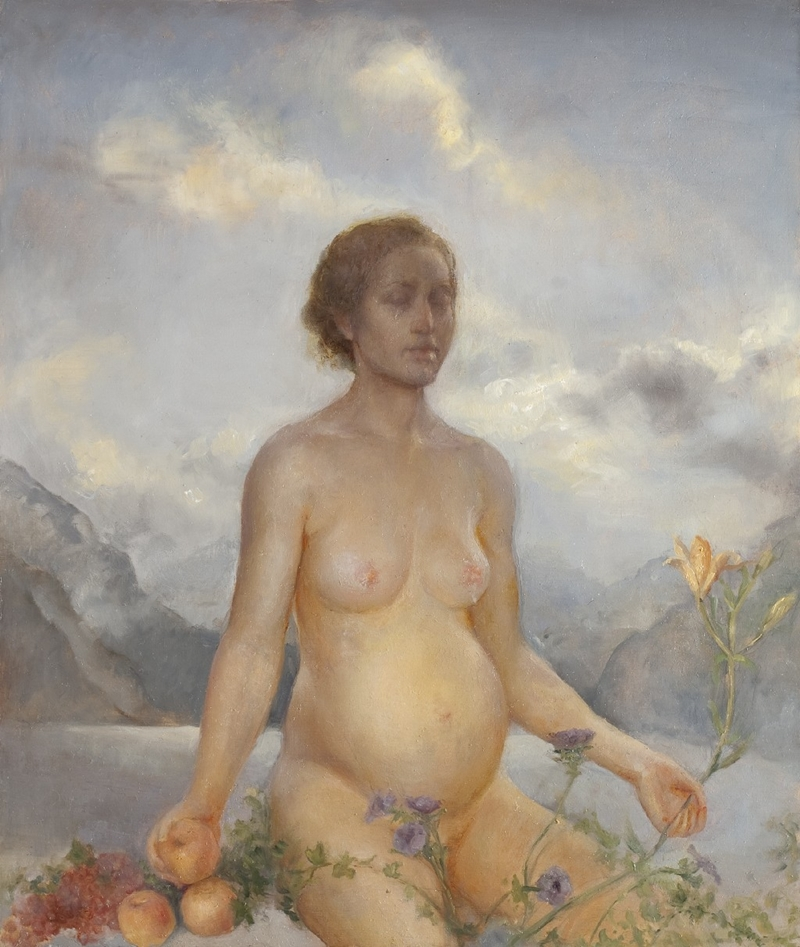 Helene Knoop 1979   Norwegian Figurative painter