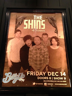 Poster outside Belly Up in Aspen for the Shins show on December 14, 2012