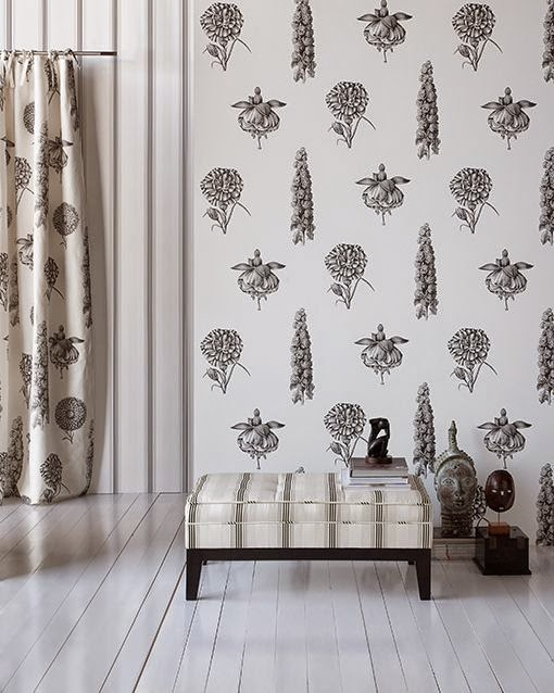Marta decoycina decorar casas en blanco y negro - Gaston y daniela papel pintado ...