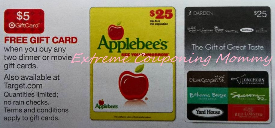 Extreme Couponing Mommy: MONEYMAKER Dinner & A Movie Gift Cards at ...