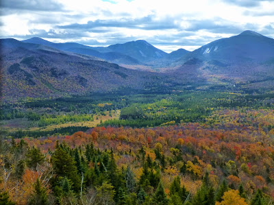 View of Marcy, Colden and Algonquin from Mount Van Hoevenberg, Sunday October 5, 2014.  The Saratoga Skier and Hiker, first-hand accounts of adventures in the Adirondacks and beyond, and Gore Mountain ski blog.
