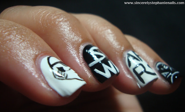 31 day nail art challenge black and white