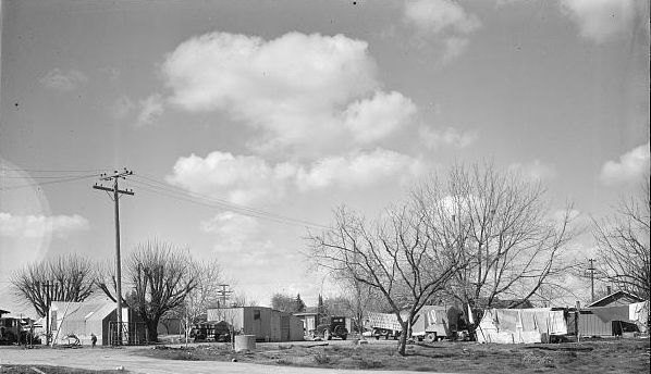 Housing for Oklahoma Refugees, California, Dorothea Lange, Library of Congress
