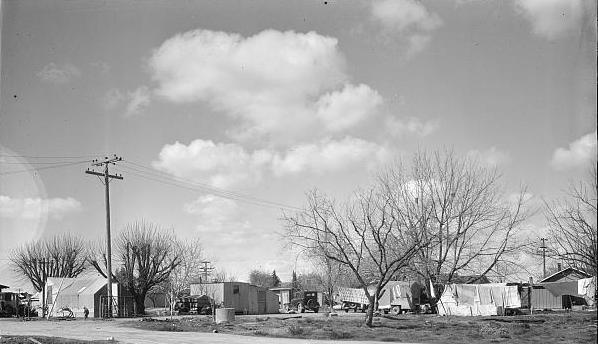 Housing for Oklahoma Refugees, California, Dorothea Lange, Library of Congress