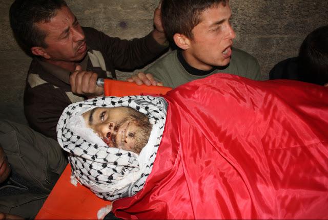 Mustafa Tamimi, de 27 anos, vítima do terrorismo do Estado de Israel