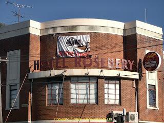 Rosebery hotel facade detail