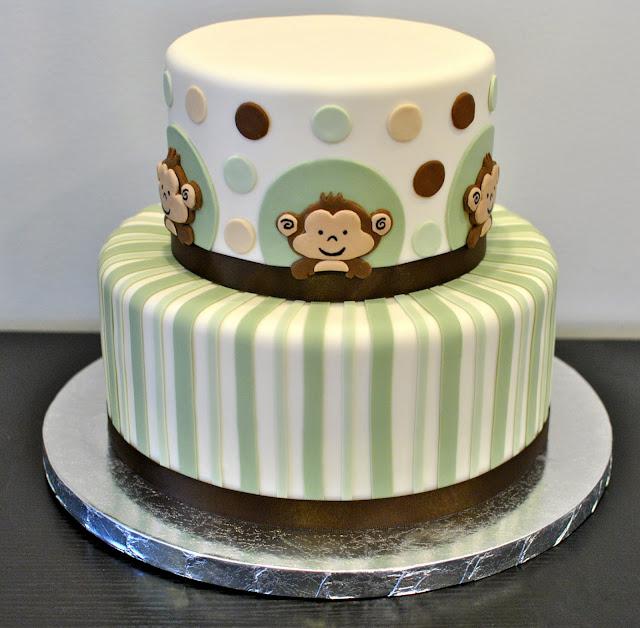 Baby Shower Decorated Cakes: Monkey Baby Shower Cake