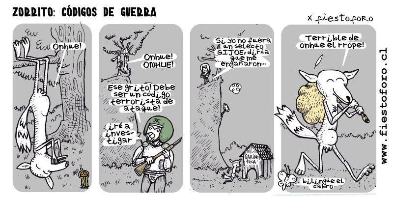 Códigos de guerra y el zorro bilingüe