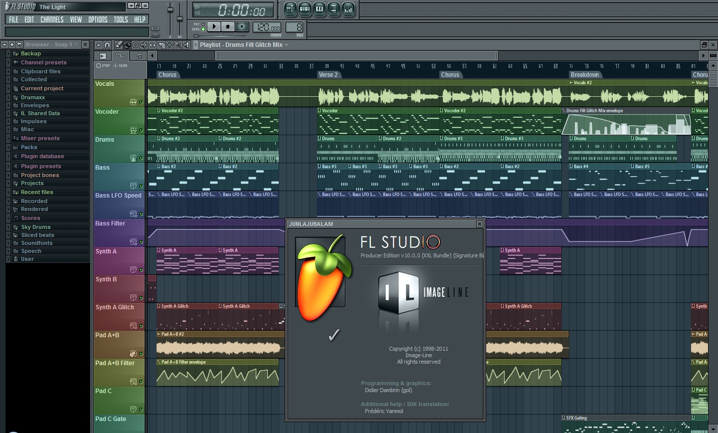 Fl studio 10 samples kontakt samples y mas for Music studio design software