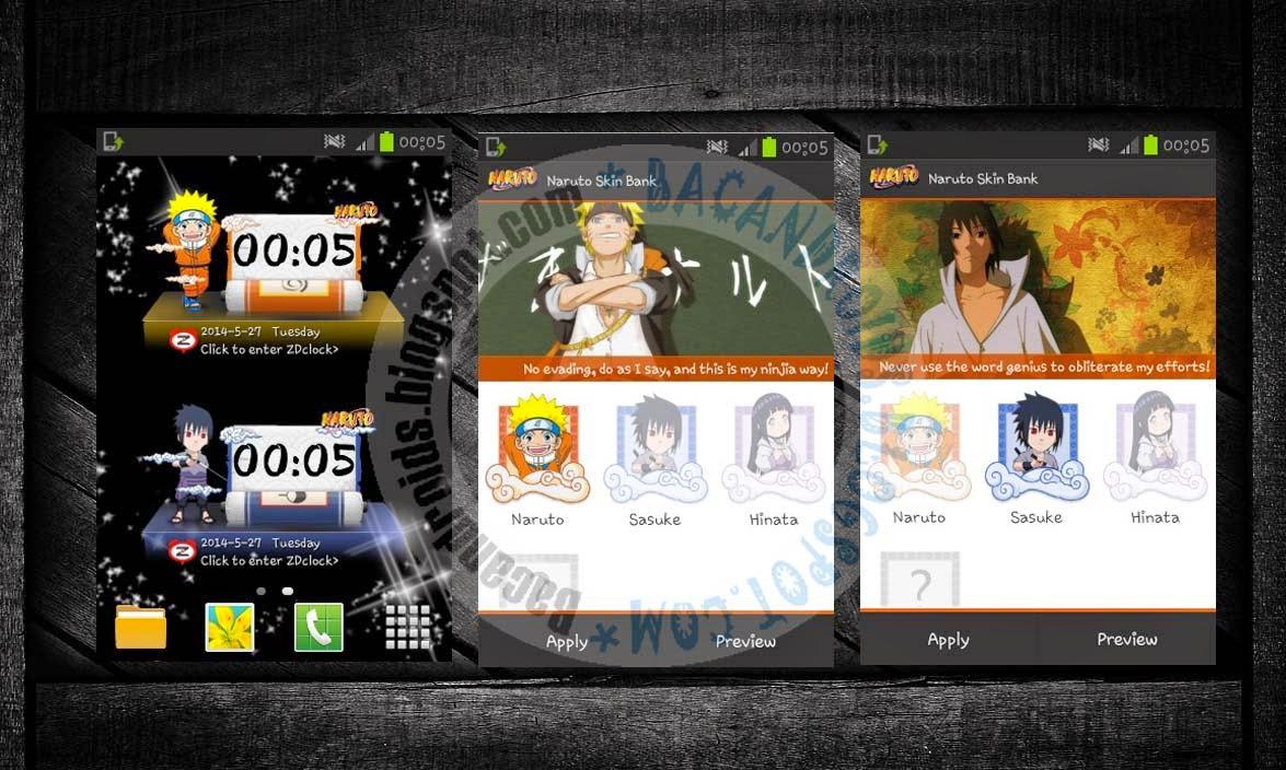 download Aplikasi Clock Widget Anime Naruto