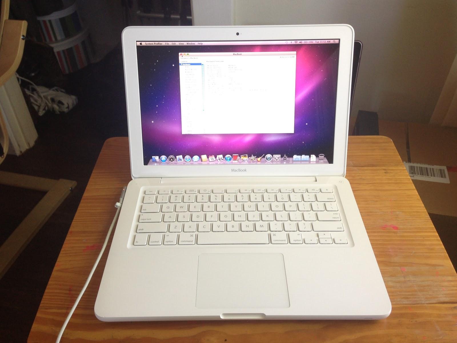 Macbook air 13 notebook,core 2 duo 186ghz,2gb ram,256gb ssd, mac os