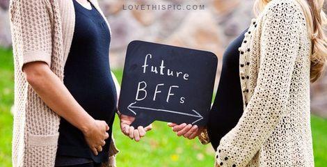 foto de amigas grávidas