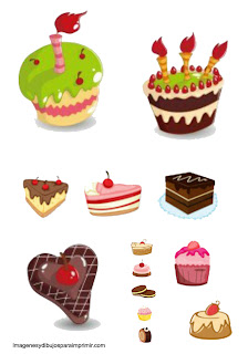 Print and cut cakes
