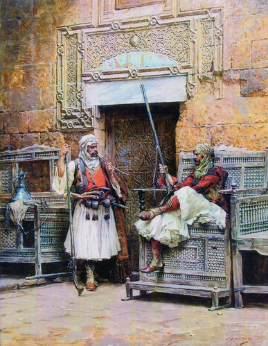 Two Guards in front of a Gate,1888-89(Gegëria)