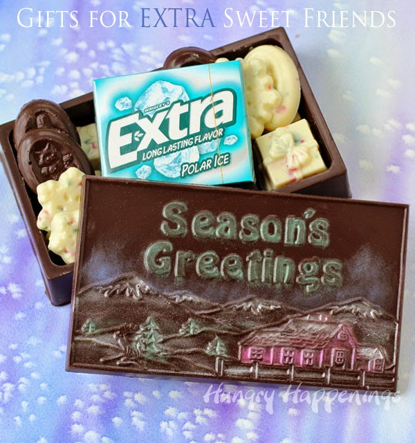 Chocolate Boxes filled with Extra Sweet Treats | http://www.hungryhappenings.com