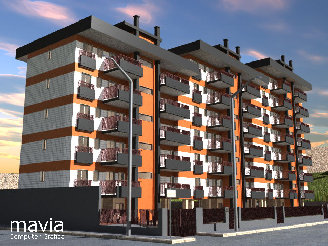 Esterni 3d rendering 3d architettura 3d architettura 3d for Architettura 3d