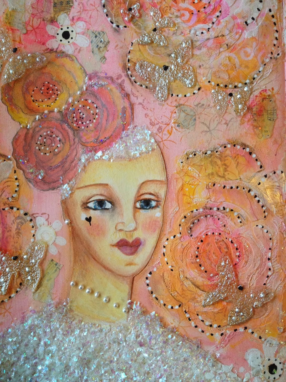 "Short Tutorial Art Journal Page ""Rose Bride"""