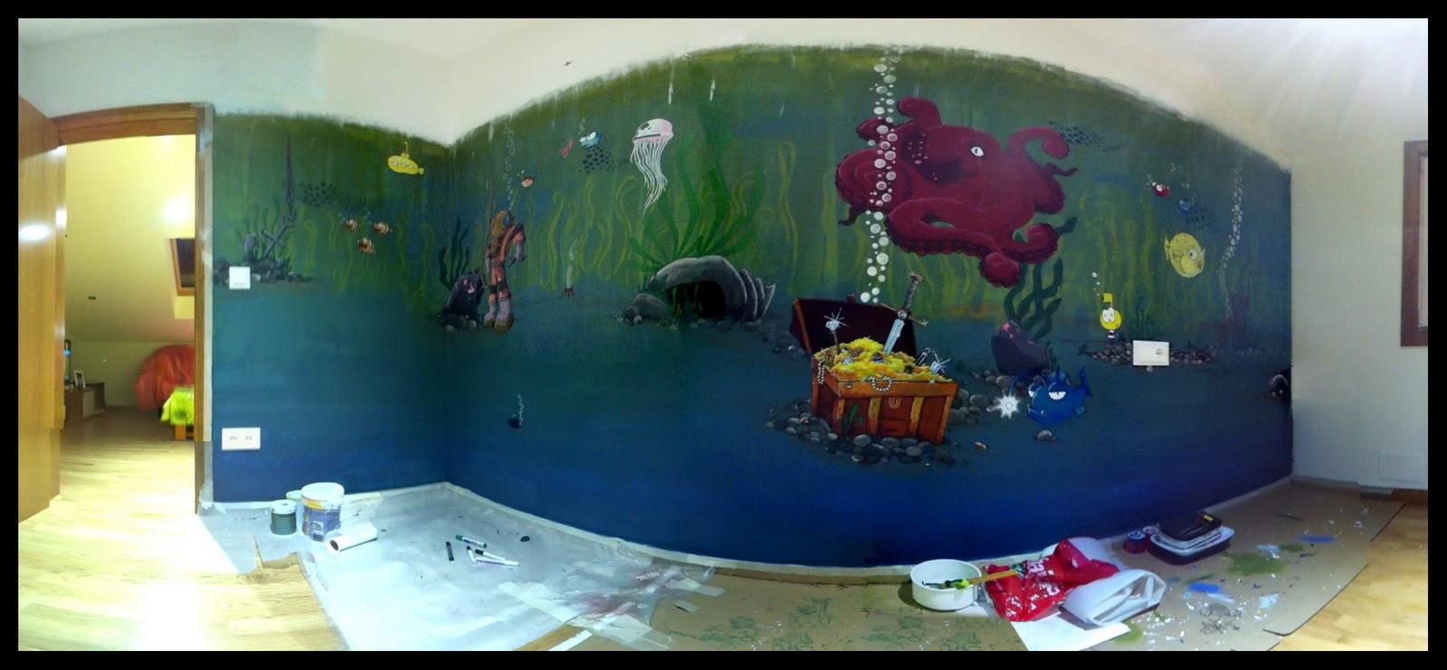 si os estn entrando ganas de hacer un mural en casa ya sabis