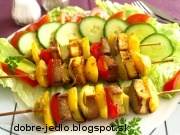 Zeleninové ražniči s tofu - recept