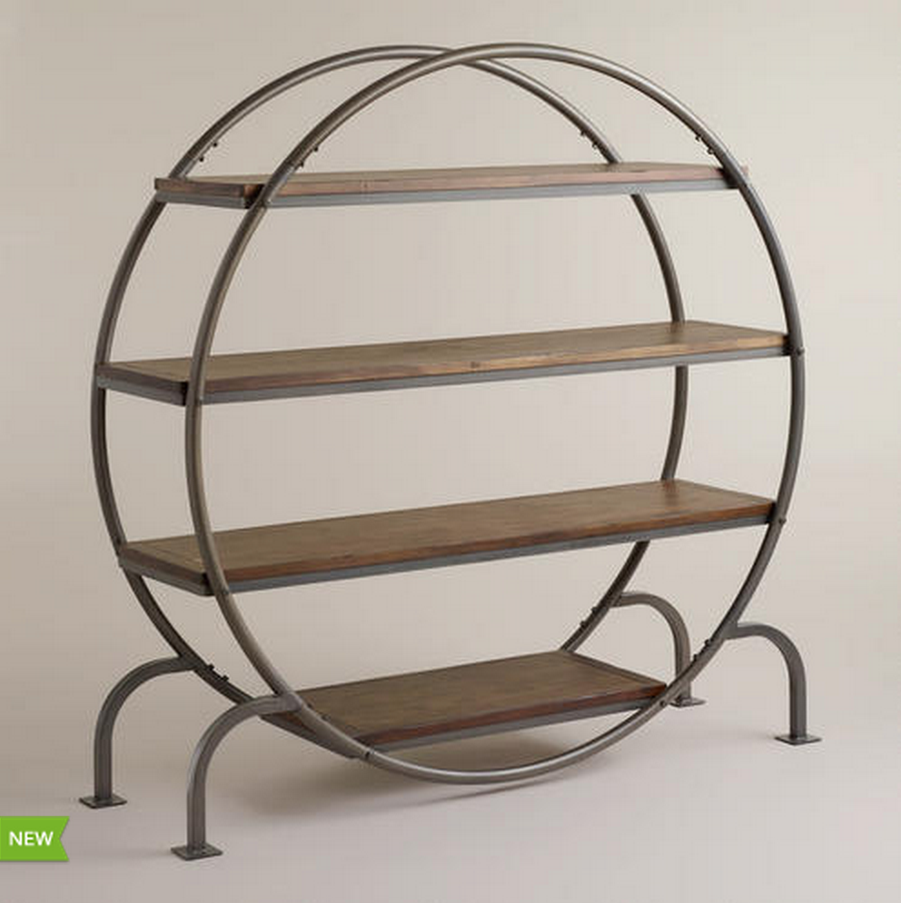 COST PLUS WORLD MARKET ROUND BOOKCASE