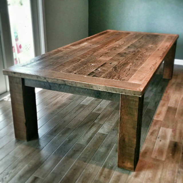 9 Barn Wood Dining Table