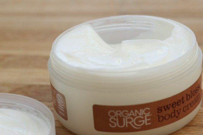 Organic Surge body lotion texture