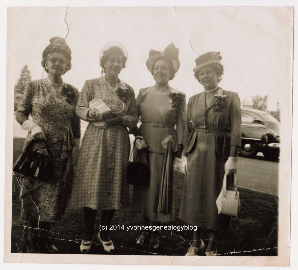 Julie Belair with three of her sisters in 1949