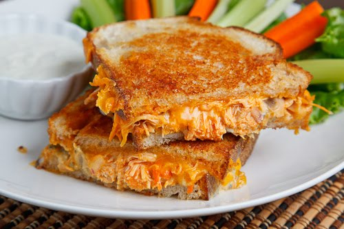 Buffalo Chicken Grilled Cheese Sandwich on Closet Cooking