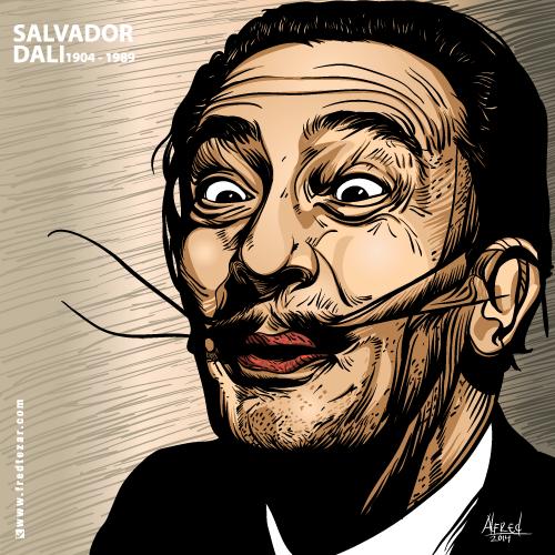 salvador dali vector detail pelukis suryalis asal spanyol