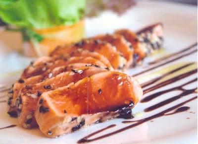 ปลาแซลมอนคลุกงากรอบ - Healthy Dining - เมนูอาหารเย็น เพื่อสุขภาพ