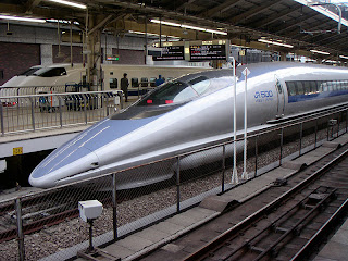 Shinkansen train at Tokyo station