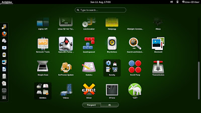 openSUSE 13.1 Milestone 4, GNOME live ISO Shell Activities