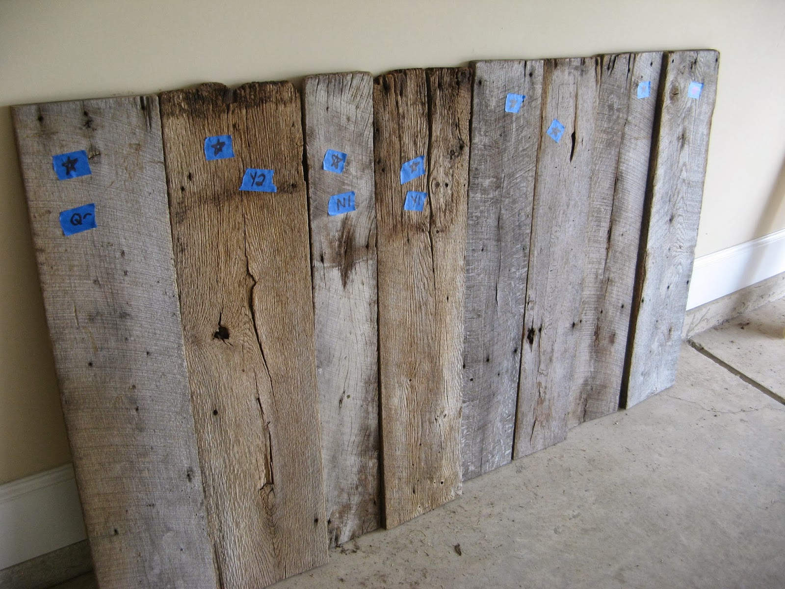 Barn wood headboard