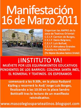 Manifestación 16 de Marzo