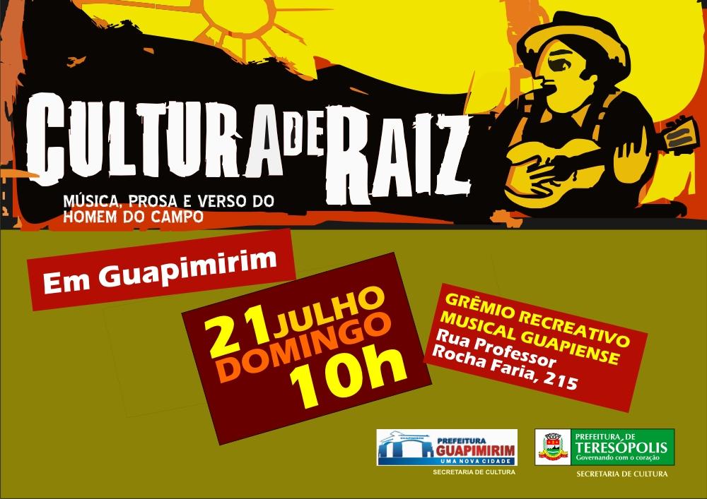 Projeto Cultura de Raiz de Teresópolis vai a Guapimirim neste domingo