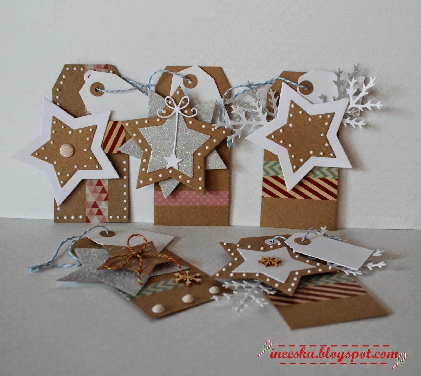 zawieszki do prezentów, tagi świąteczne,ineska, ineeska